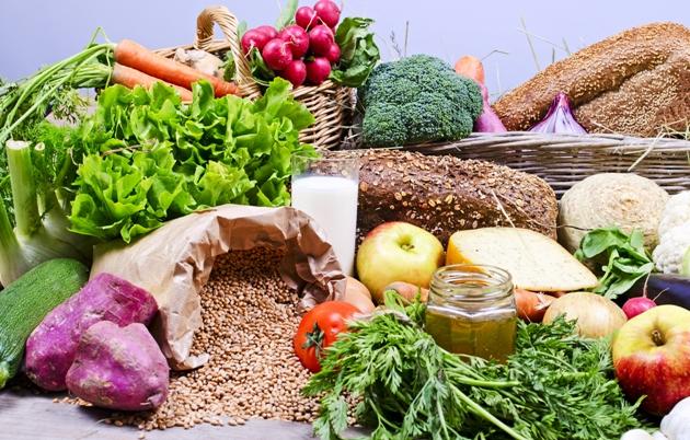 Variedade de alimentos orgânicos
