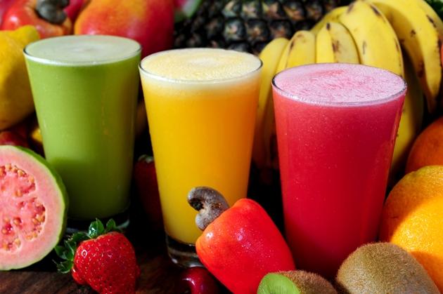 Sucos coloridos e saudáveis
