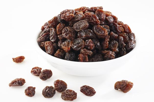 Substitua o damasco pela uva passa